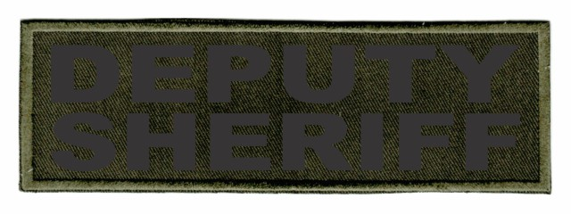 DEPUTY SHERIFF ID Patch - 6x2 - Black Lettering - OD Green Twill Backing