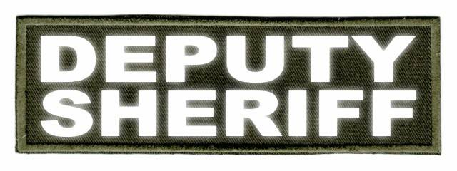 DEPUTY SHERIFF ID Patch - 6x2 - Reflective Lettering - OD Green Twill Backing