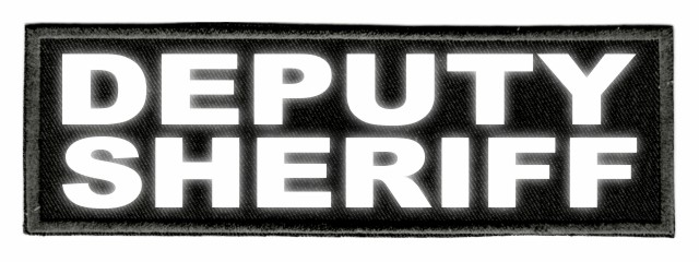 DEPUTY SHERIFF ID Patch - 6x2 - Reflective Lettering - Black Twill Backing