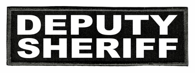 DEPUTY SHERIFF ID Patch - 6x2 - White Lettering - Black Twill Backing