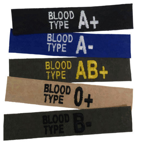 Embroidered Blood Type Tape - Sew-On
