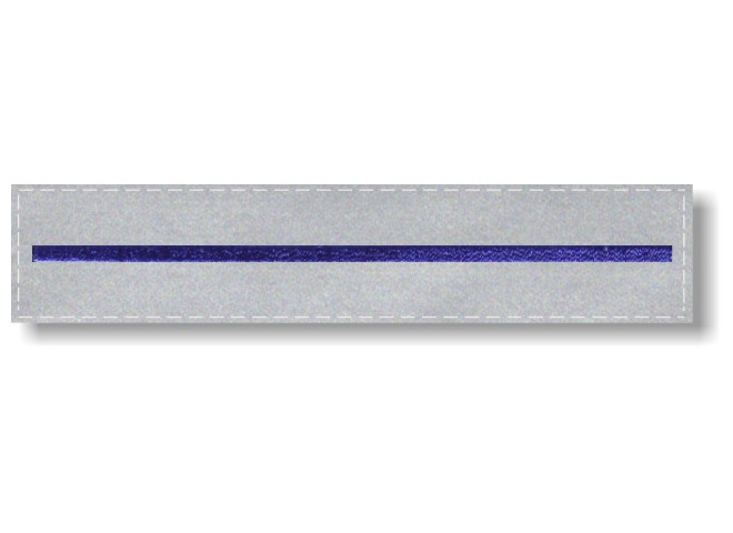 Embroidered Thin Blue Line on 5x1 Reflective Tape - Hook Back