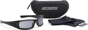 ESS 5B - Black Frame w/Polarized Mirrored Gray Lenses