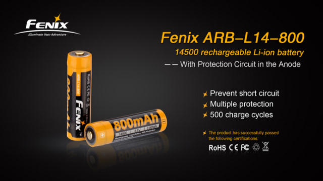 Fenix ARB-L14-800 14500 Rechargeable Battery