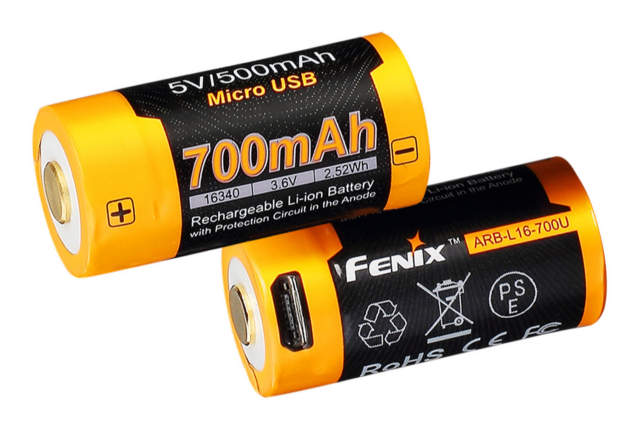 Fenix ARB-L16-700U with Built-In USB 16340 Rechargeable Battery