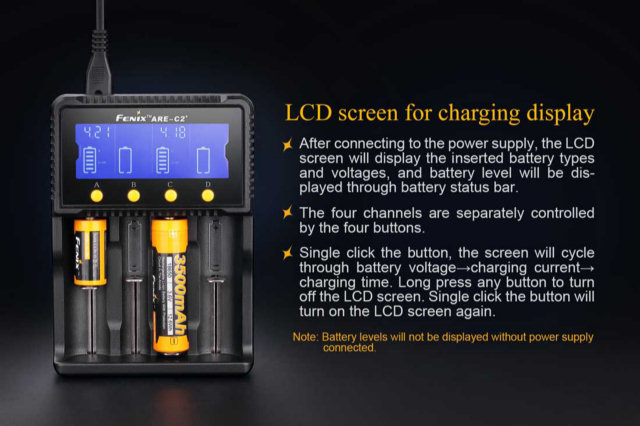 Fenix ARE-C2+ Four Bay Battery Charger