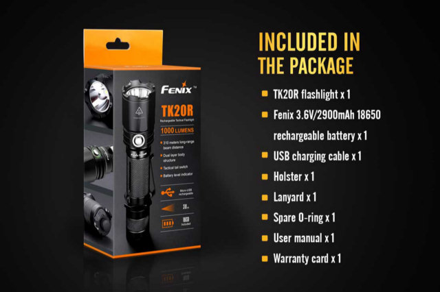 Fenix TK20R LED Flashlight - 1000 Lumens