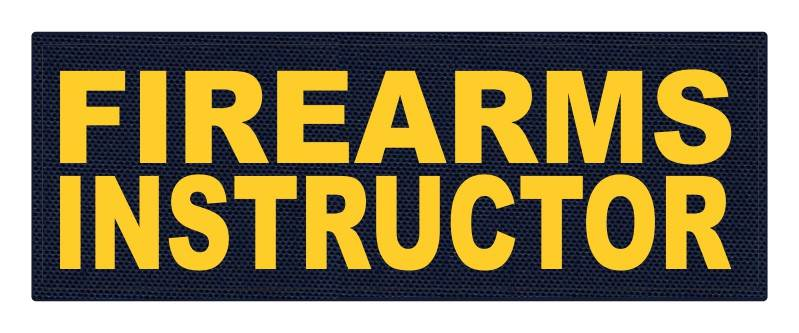 FIREARMS INSTRUCTOR - 11x4 - Gold Lettering - Navy Backing - Hook Fabric