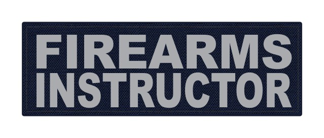 FIREARMS INSTRUCTOR - 6x2 - Gray Lettering - Navy Backing - Hook Fabric