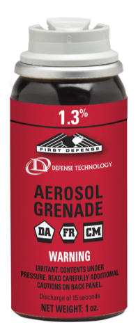 First Defense Aerosol Grenade - 1.3 MC - 1.0 oz. - Fogger