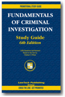 Fundamentals of Criminal Investigation Study Guide, 6th edition