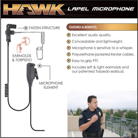 Hawk Lapel Microphone - Hardwired