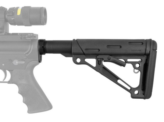 Hogue AR-15/M-16 OverMolded Collapsible Buttstock Assembly - Mil-Spec