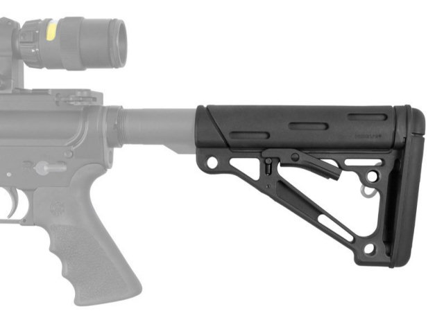 Hogue AR-15/M-16 OverMolded Collapsible Buttstock - Mil-Spec Buffer Tube
