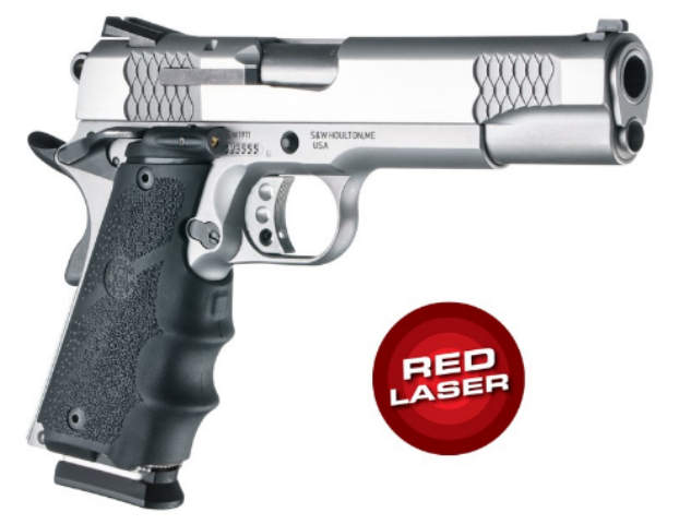 Hogue LE Laser Equipped OverMolded Grips - 1911 Government