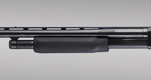 Hogue Shotgun Stocks, Remington 870 - Black OverMolded Forend