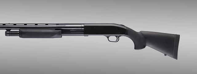 Hogue Shotgun Stocks, Remington 870 - Black OverMolded Shotgun Stock w/Forend - 12-inch L.O.P.
