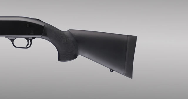 Hogue Shotgun Stocks, Remington 870 - Black OverMolded Shotgun Stock - 12-inch L.O.P.