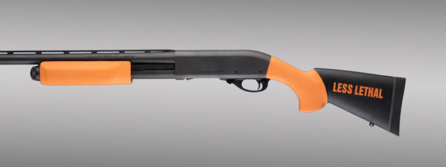 Hogue Shotgun Stocks, Remington 870 - Less Lethal Orange O.M. Shotgun Stk. w/Forend 12-inch L.O.P.