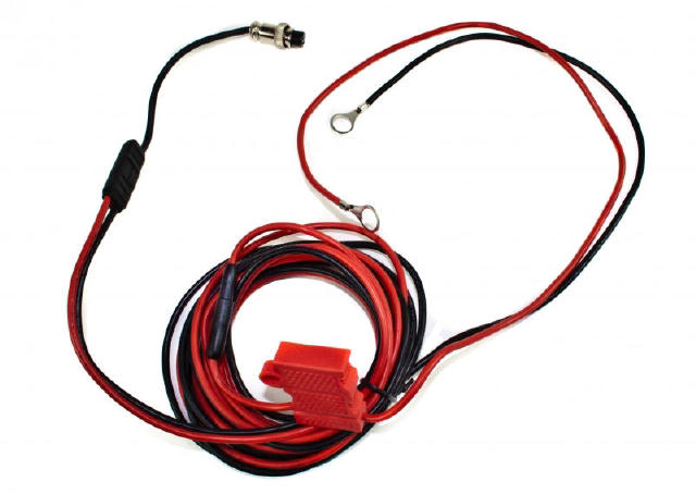 Impact Radio 10 ft. fused cable, hard wire kit for AC/DC-1, AC/DC-3 and AC/DC-6 charger