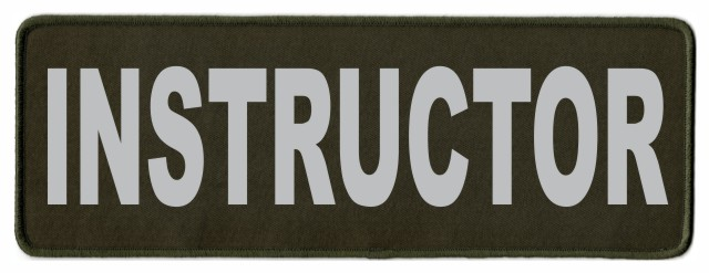 INSTRUCTOR ID Patch - 11x4 - Gray Lettering - OD Green Twill Backing