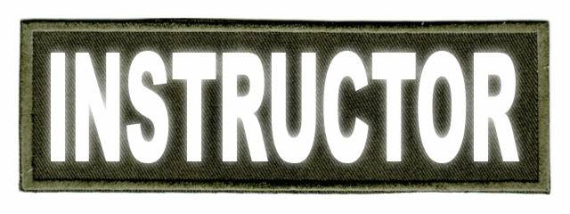 INSTRUCTOR ID Patch - 6x2 - Reflective Lettering - OD Green Twill Backing
