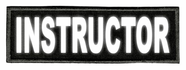 INSTRUCTOR ID Patch - 6x2 - Reflective Lettering - Black Twill Backing