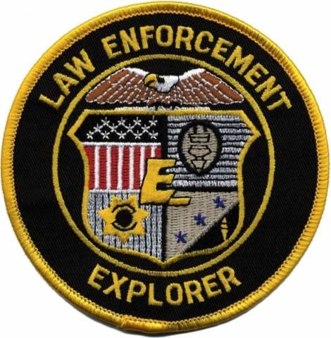 Law Enforcement Explorer Shoulder Patch, 4-inch Round