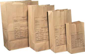 Lightning Powder Paper Evidence Bags - 100 Count