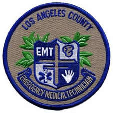 Los Angeles County Medical Services Shoulder Patch - Emergency Medical Technician