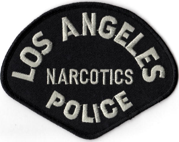 Los Angeles Police Department - NARCOTICS Tactical Shoulder Patch - Pair