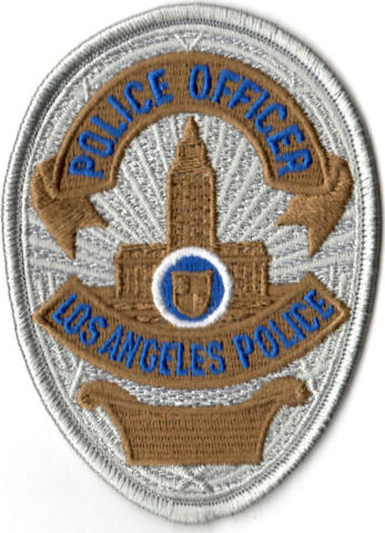 Los Angeles Police Department - Officer Shield, Gold/Silver