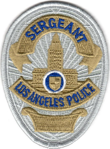 Los Angeles Police Department - Sgt. Shield, Gold/Silver
