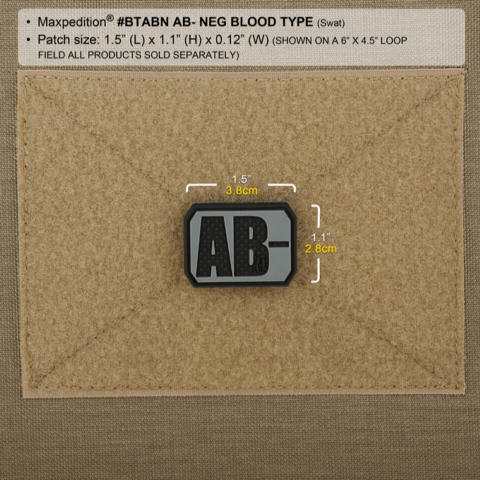 Maxpedition AB- NEG Blood Type PVC Patch