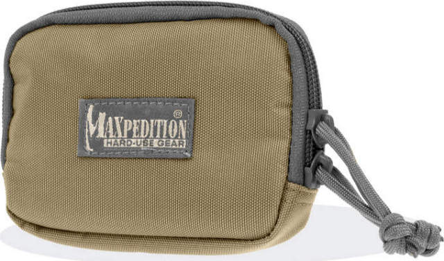 Maxpedition Hook-n-Loop 3 x 5 Zipper Pocket - Khaki-Foliage