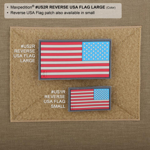 Maxpedition US Flag Reversed PVC Patch