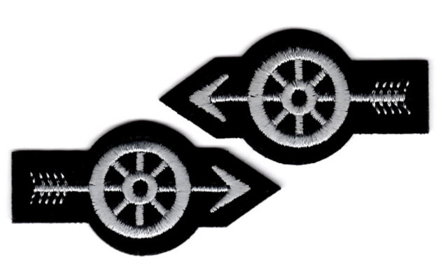 Motorcycle / Traffic Officer - Wheel with Arrow - Silver - Pair