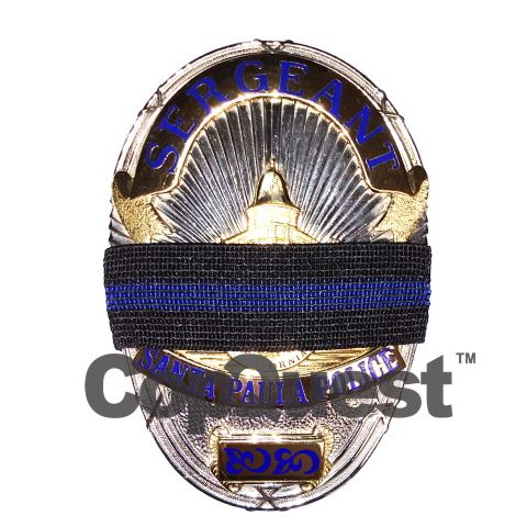Mourning Bands for Metal Badges - Thin Blue Line - 10-Pack