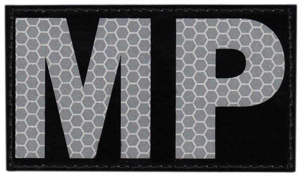 MP Infrared Patch - Military Police - Small - Hook backing