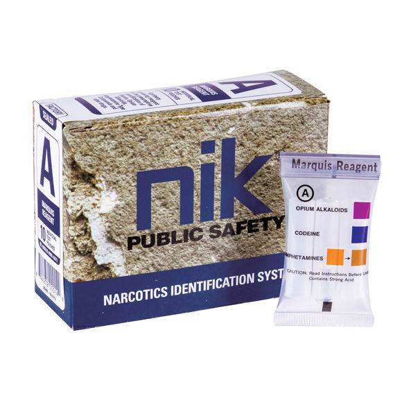 NIK Narcotic Test Kits - Test A: Opium Alkaloids / MDMA / Ecstasy