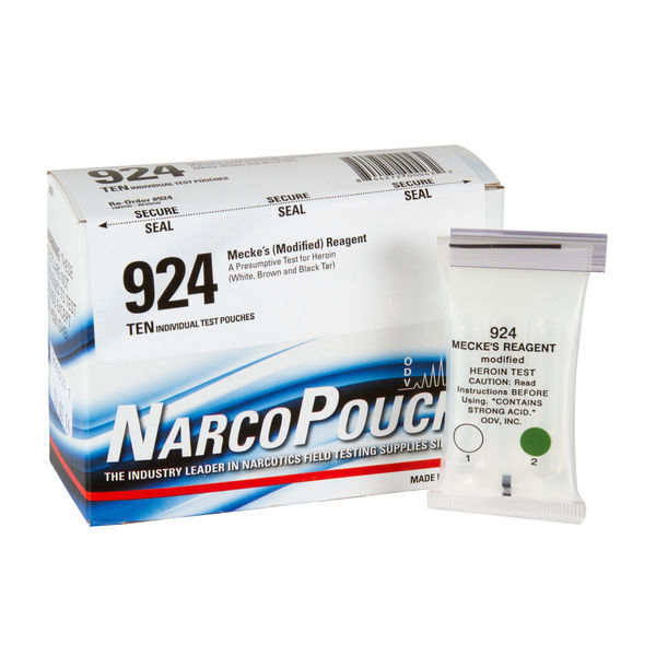 ODV NarcoPouch Individual Test - ODV 924: Heroin - White, Brown and Black Tar