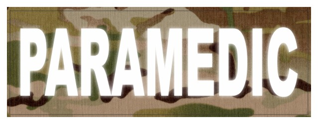 PARAMEDIC ID Patch - 11x4 - Reflective White Lettering - Multicam Backing - Hook Fabric