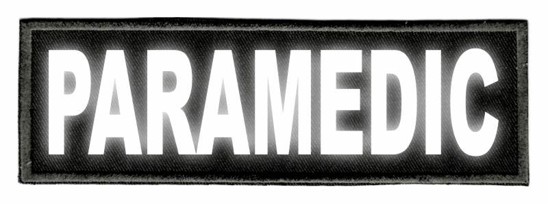 PARAMEDIC ID Patch - 6x2 - Reflective Lettering - Black Twill Backing