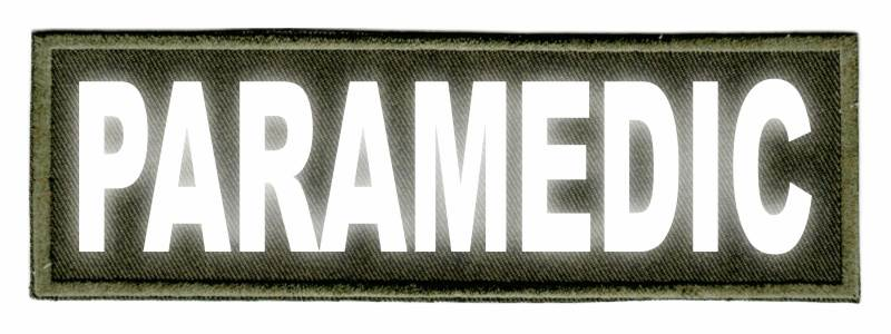 PARAMEDIC ID Patch - 6x2 - Reflective Lettering - OD Green Twill Backing