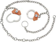 Peerless Handcuff High Security Model 7002CHS Waist Chain - Nickel Finish