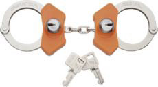 Peerless Handcuff High Security Model 710C Chain Link - Nickel Finish