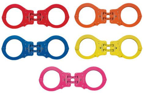 Peerless Handcuffs Model 850C Hinged Handcuff - Color Coated