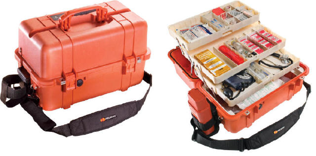 Pelican 1460EMS Case with Organizer/Dividers - Orange
