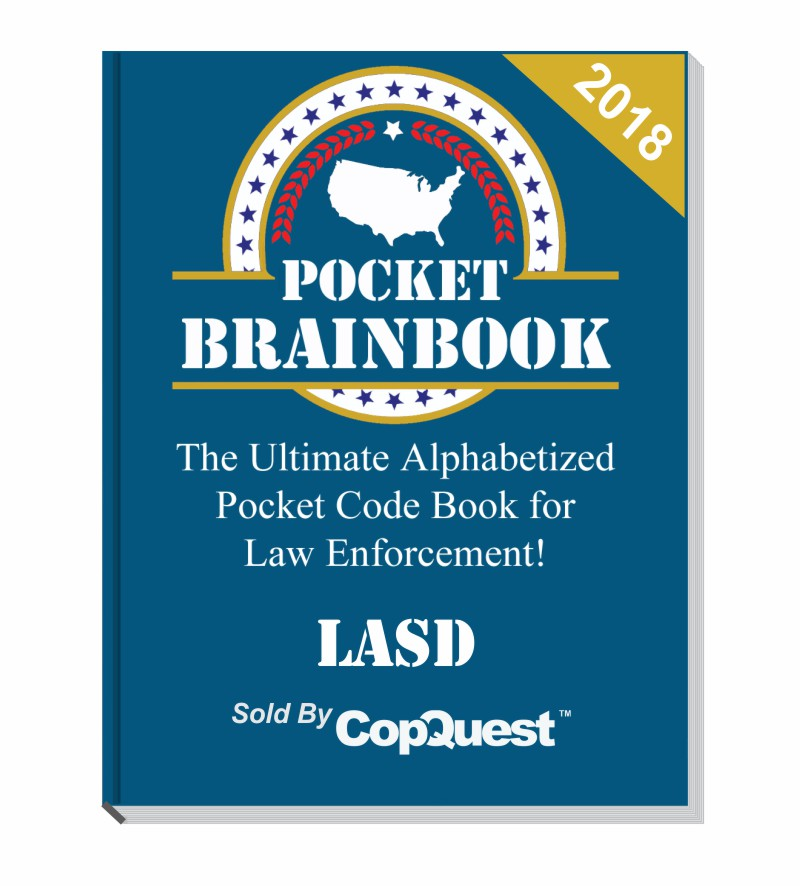 Pocket Brainbook - Los Angeles Sheriff's Department Edition - 2018