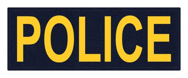 POLICE ID Patch - 11x4 - Gold Lettering - Navy Backing - Hook Fabric